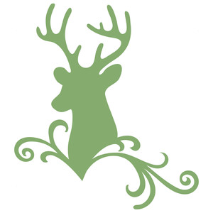 deer flourish scroll