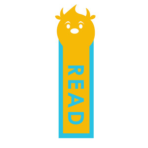 monster bookmark: read