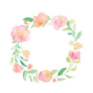 painted watercolor flower wreath