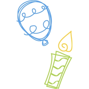 party balloon & candle