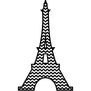 eiffel tower chevron