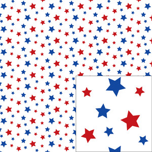 red and blue star pattern