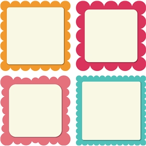 4 scalloped squares