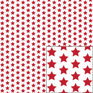 red on white star pattern