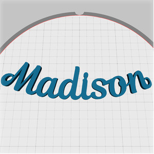madison name pendant