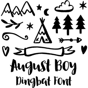 august boy dingbat font