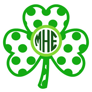shamrock dot monogram frame