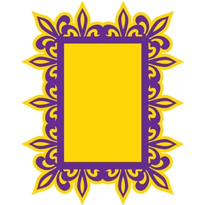 fleur de lis rectangle frame