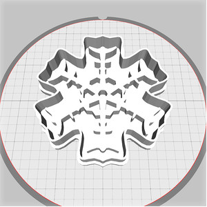 snowflake dough cutter