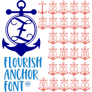 sg flourish anchor font