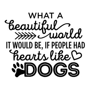 what a beautiful world dog phrase