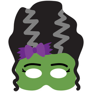 mrs. frankenstein halloween mask