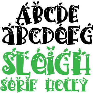 pn sleigh serif holly