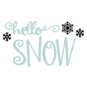 hello winter - snow