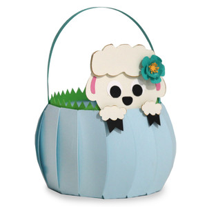cute lamb basket