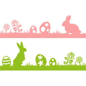 easter bunny borders