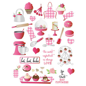 baking-themed planner stickers