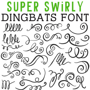 cg super swirly dingbats