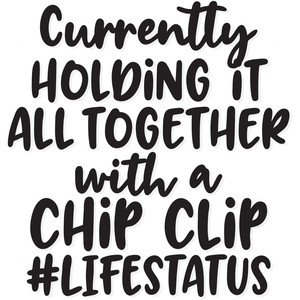 currently holding it all together with a chip clip #lifestatus