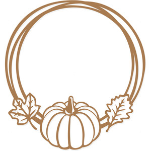 fall pumpkin frame