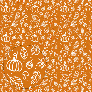 autumn pattern (white on orange)