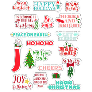 ml christmas phrases stickers