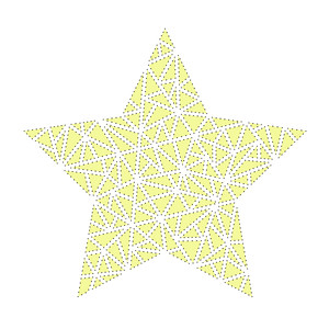 sketch & stitch geometric star