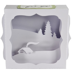 winter landscape christmas gift card box