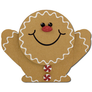 gingerbread man flip gift card