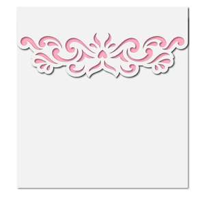 square damask envelope