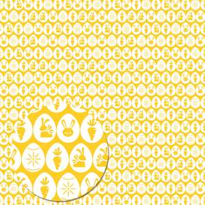 easter eggs pattern (yellow)