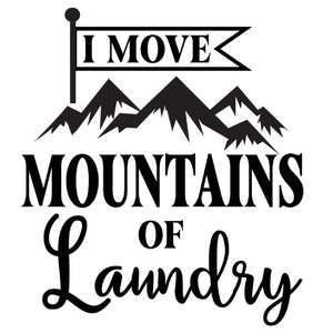 i move mountains of laundry