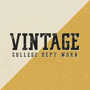 vintage college dept worn