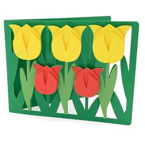 tulip flowers card