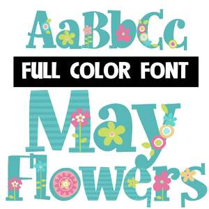 may flowers color font