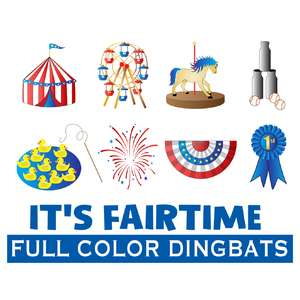 SI IT'S fair time dingbats font