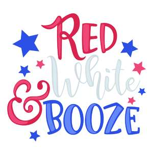 red white and booze phrase