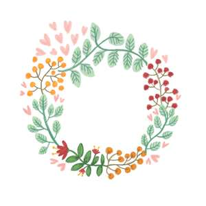 painted flower wreath