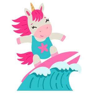 unicorn surfing