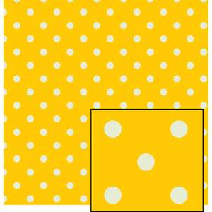 yellow and cream larger polka dot pattern