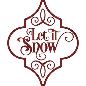 let it snow arabesque christmas ornament