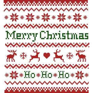 merry christmas ugly sweater pattern