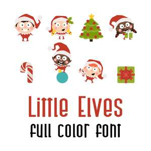 little elves full color font