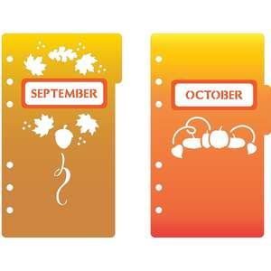 6-ring a6 binder september & october dividers