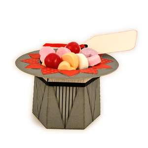 top hat 3d mini candy cup