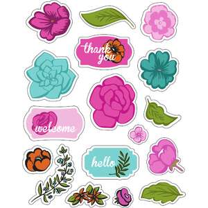 ml flowers floating stickers
