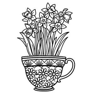 daffodils in a teacup