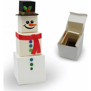 3d snowman stacking boxes