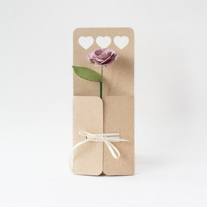 heart flower envelope with ribbon closure by farren celeste