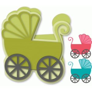 baby card - baby buggy